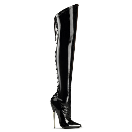 "6 1/4"" Brass Heel Thigh Boot (DAGGER-3060)"