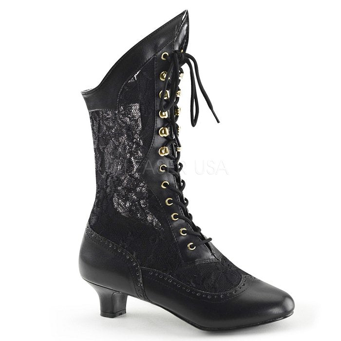 "2"" Heel Victorian Lace Boot (DAME-115)"
