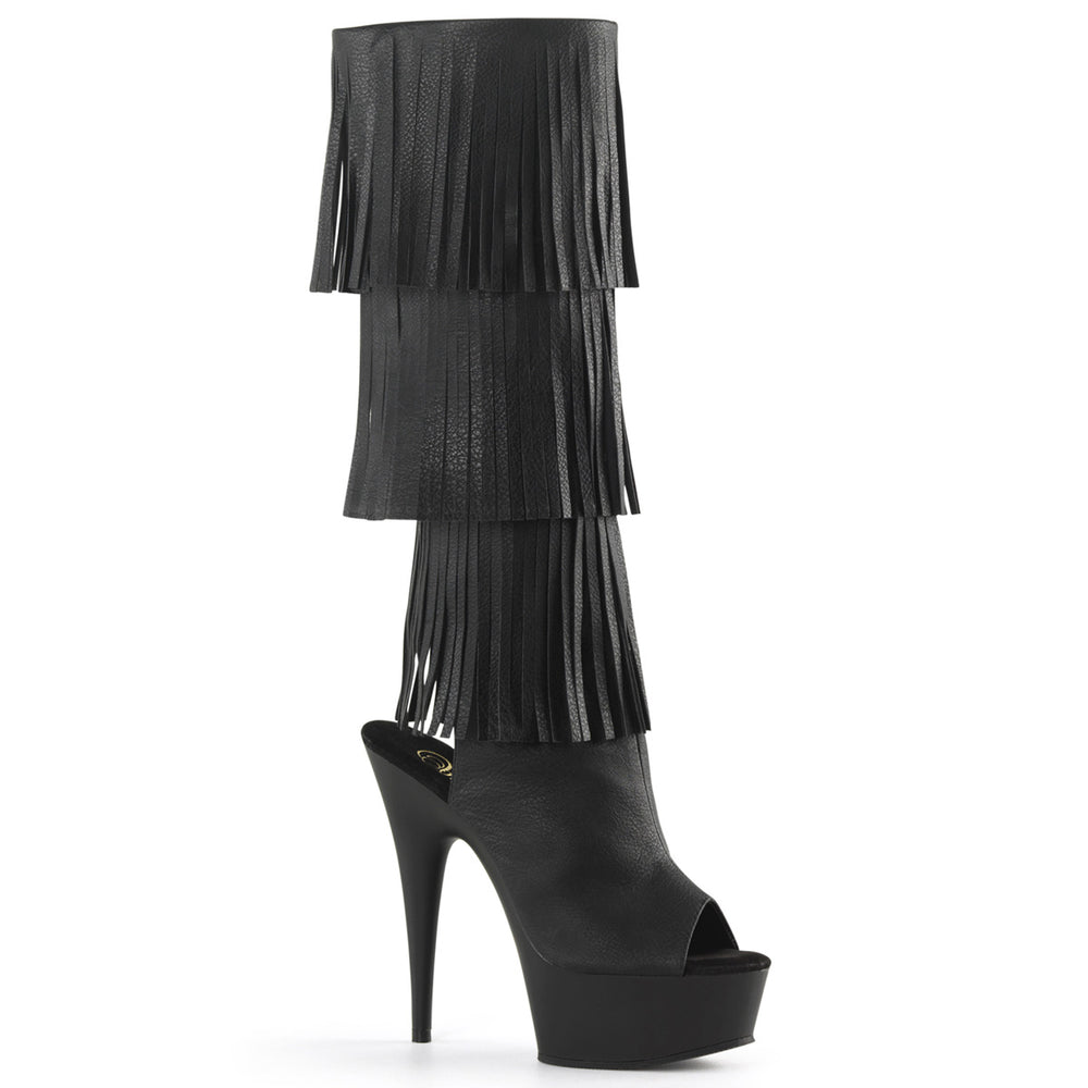 "6"" Heel Open Toe Knee Fringed Boot (DELIGHT-2019-3)"