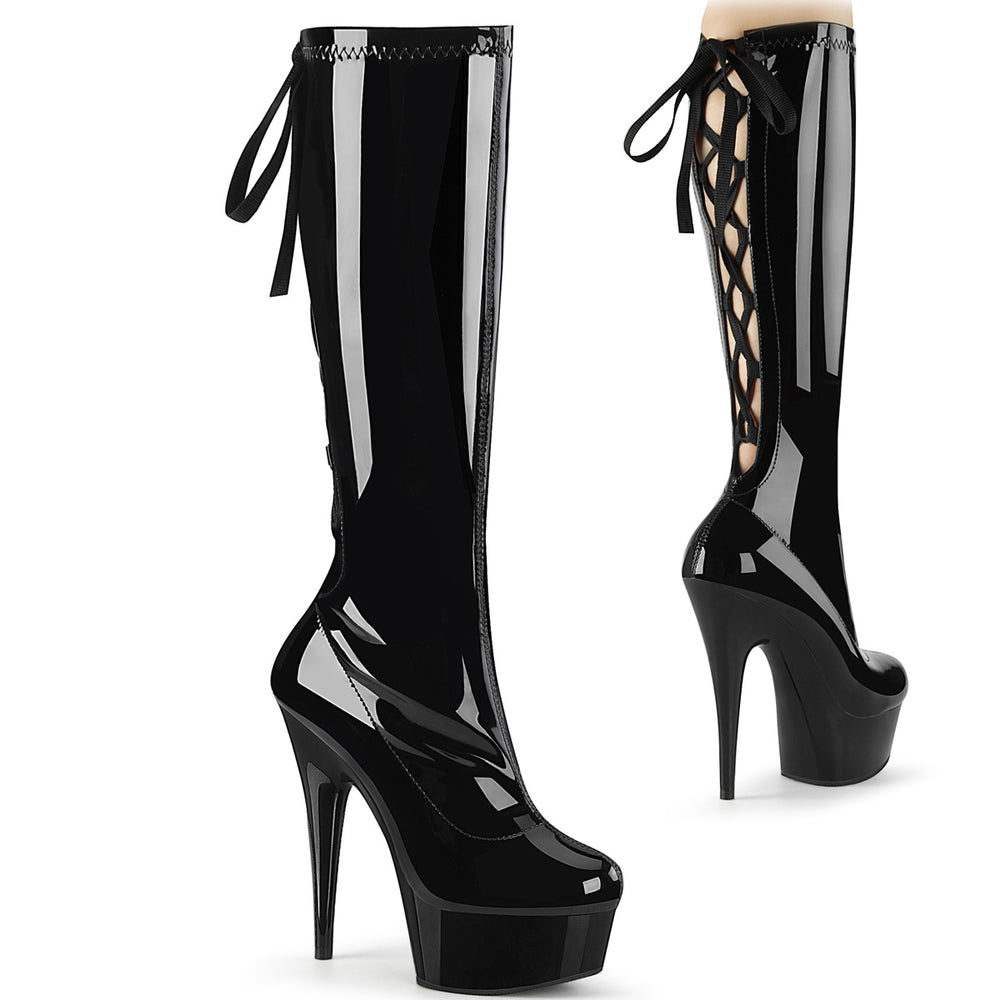 "6"" Lace-up Platform Knee Boot (DELIGHT-2029 )"