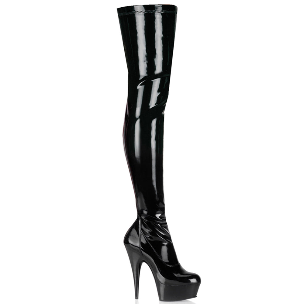 "6"" Stretch Platform Thigh Boot (DELIGHT-3000)"
