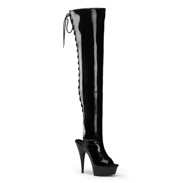 "6"" Open Toe Thigh Boot  (DELIGHT-3017)"