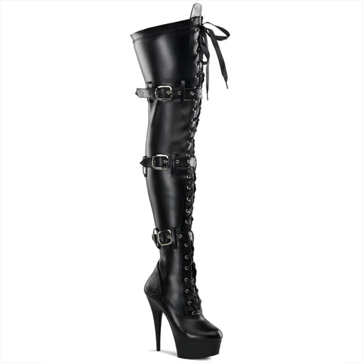 "6"" Lace-Up Buckle Platform Boot  (DELIGHT-3028)"