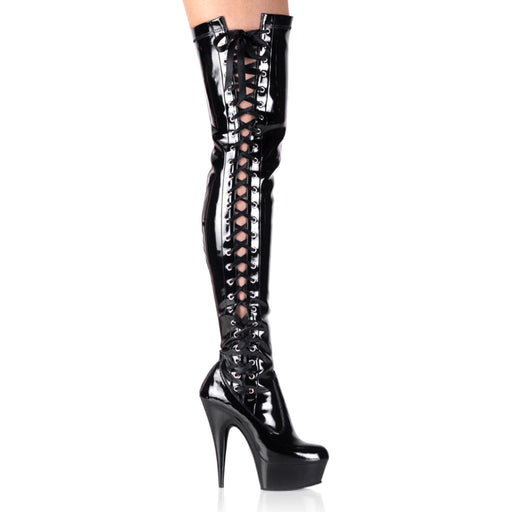 "6"" Side Laced Platform Thigh Boot  (DELIGHT-3050)"