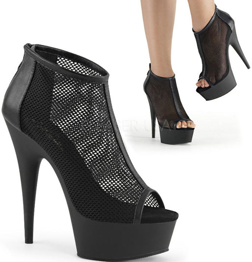 "6"" Open Toe Mesh Bootie (DELIGHT-600-12)"
