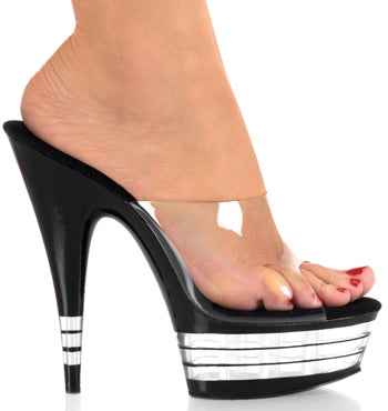 "6"" Stiletto Lined Platform Slide (DELIGHT-601LN)"