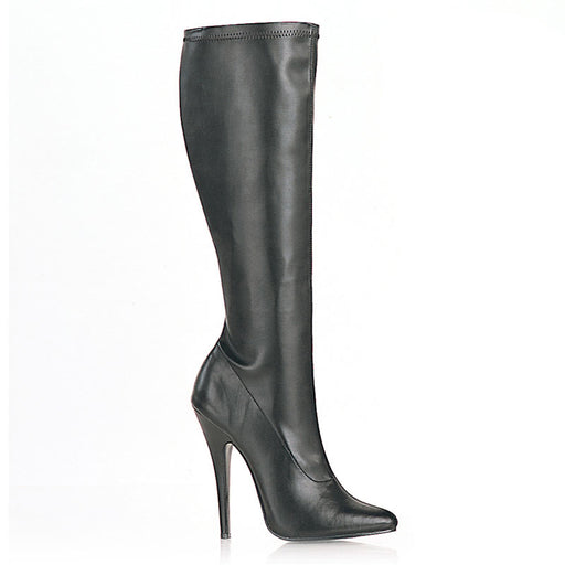 "6"" Plain Stretch Knee Boot (DOMINA-2000)"