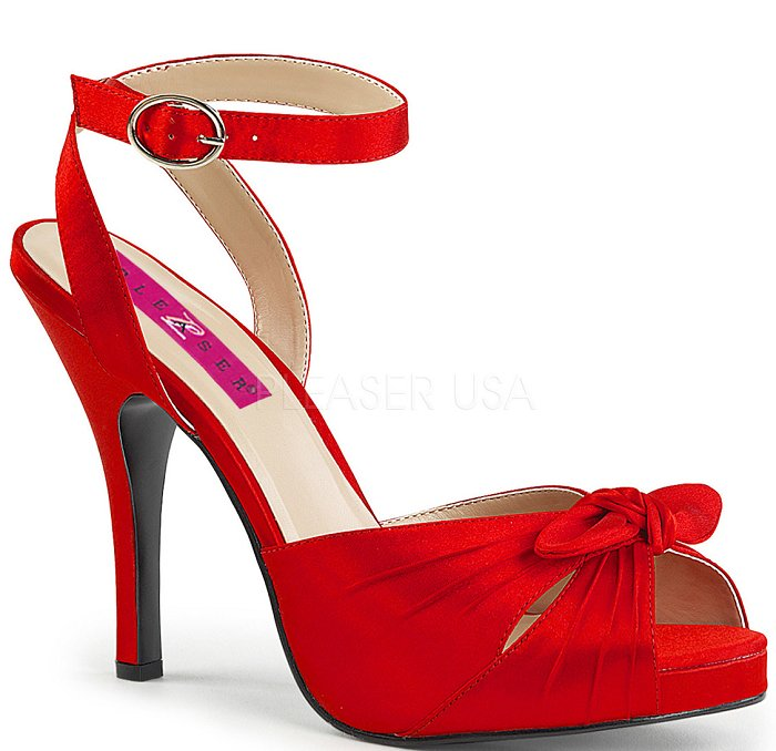 "5"" Pin-Up Peep Toe Pump (EVE-01)"