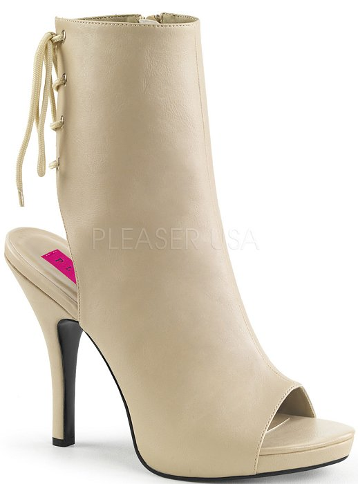 "5"" Pin-Up Peep Toe Ankle Boot (EVE-102)"