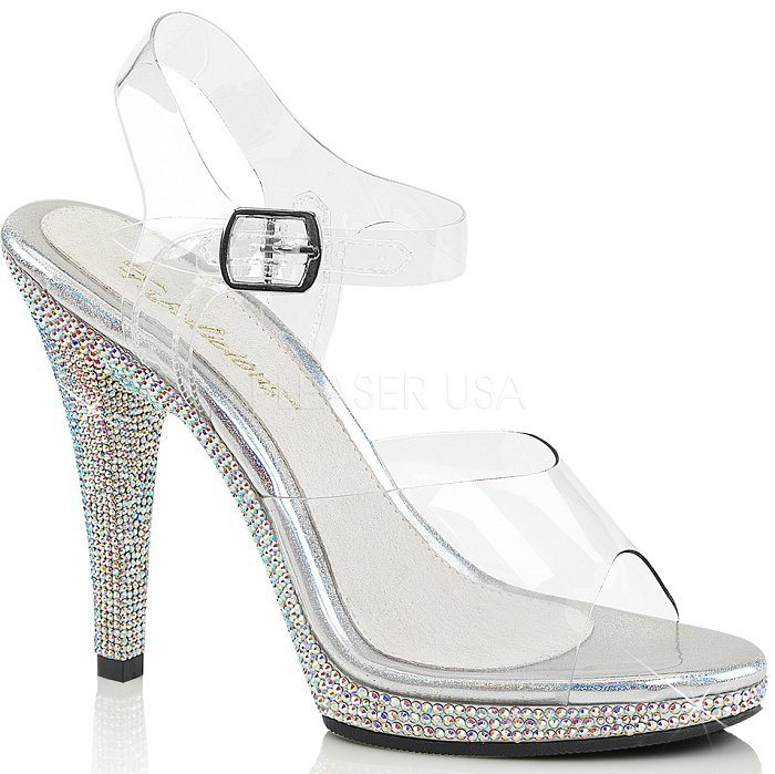 "4.5"" Rhinestone Sandal  (FLAIR-408DM)(Blowout Final Sale)"