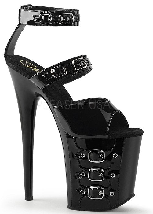"8 "" Stiletto Buckle Strap Platform (FLAMINGO-885)"