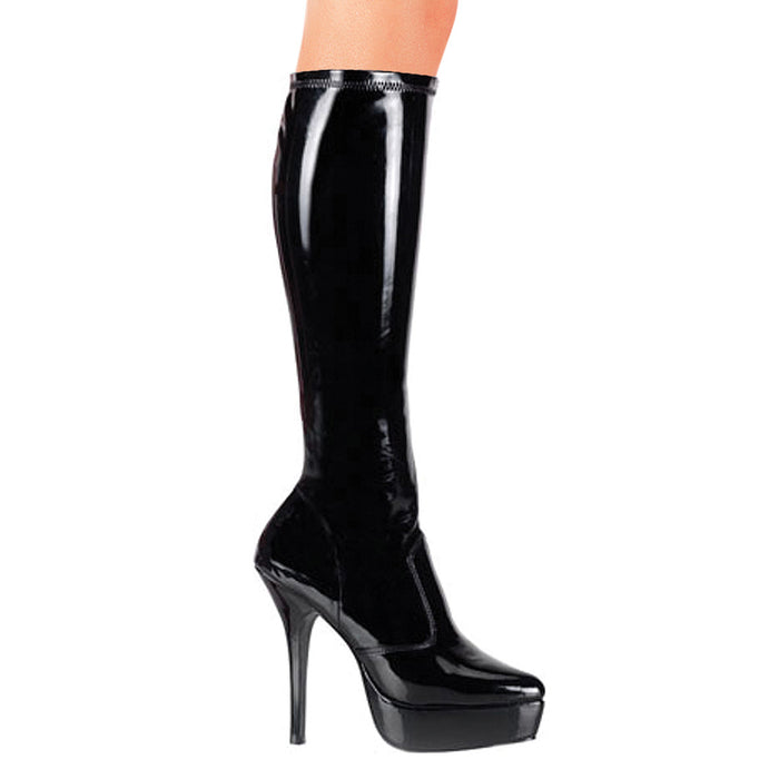 "5 1/4"" Stretch Platform Knee Boot (INDULGE-2000)"