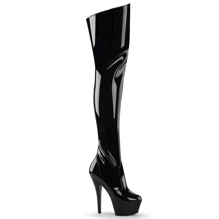 "6"" Stiletto Platform Thigh Boot(KISS-3010)"