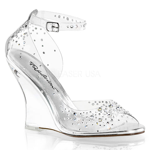 "4"" Wedge With Rhinestones (Lovely-430RS)"