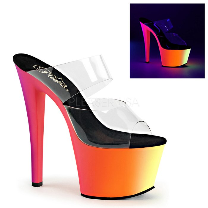 "7"" Heel  Two Band Slide (RAINBOW-302UV)"