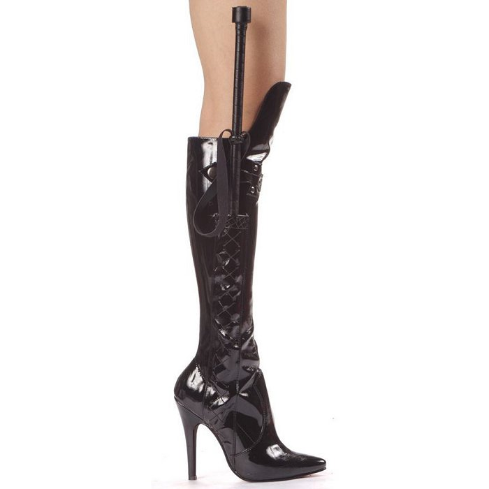 "5"" Heel Knee Boot with Whip (ES511-SADIE)"