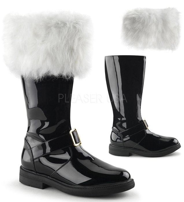 Men's Santa Boot With White Fur Trim (SANTA-102)