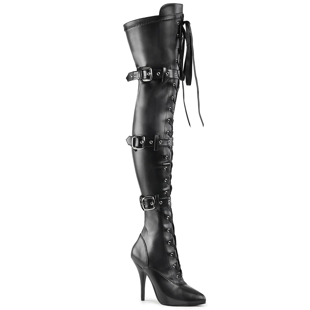 "5"" Ribbon Stretch Thigh Boot (SEDUCE-3028)"