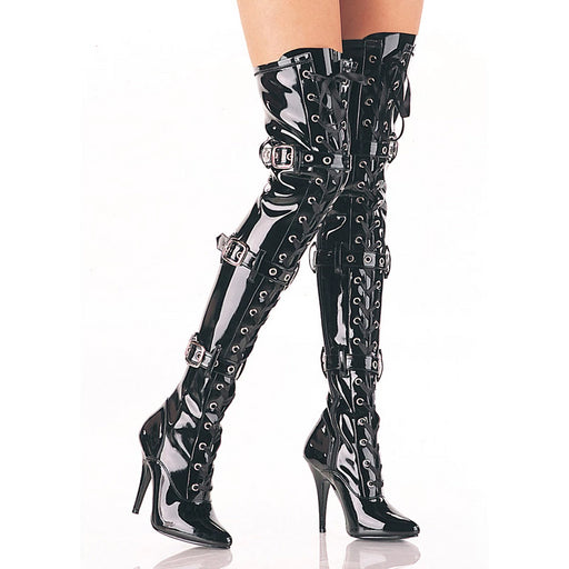 "5"" Ribbon Stretch Thigh Boot (SEDUCE-3028 Final Sale)"
