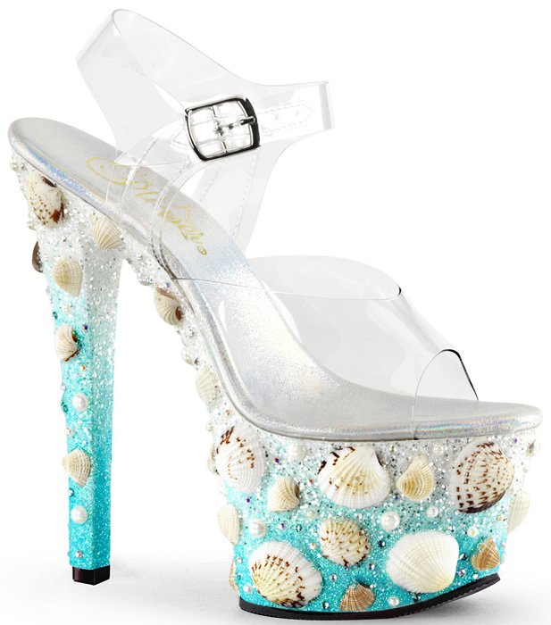 "7"" Stiletto Seashell Platform Sandal(SKY-308MERMD)(Blowout Final Sale)"