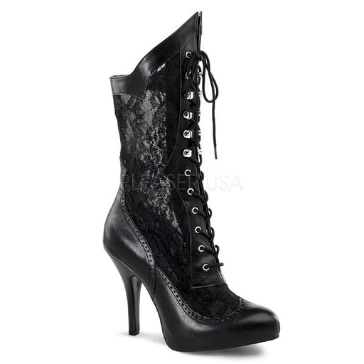 "5"" Heel, Wide Width Lace Up Boot (VICTORIAN-116X)"
