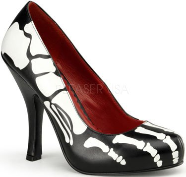 "4 1/2"" heel Pump With X-Ray Skeleton Print(X-Ray-12)"