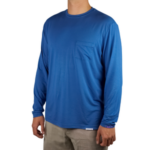 Plaia Bamboo men's blue long sleeve