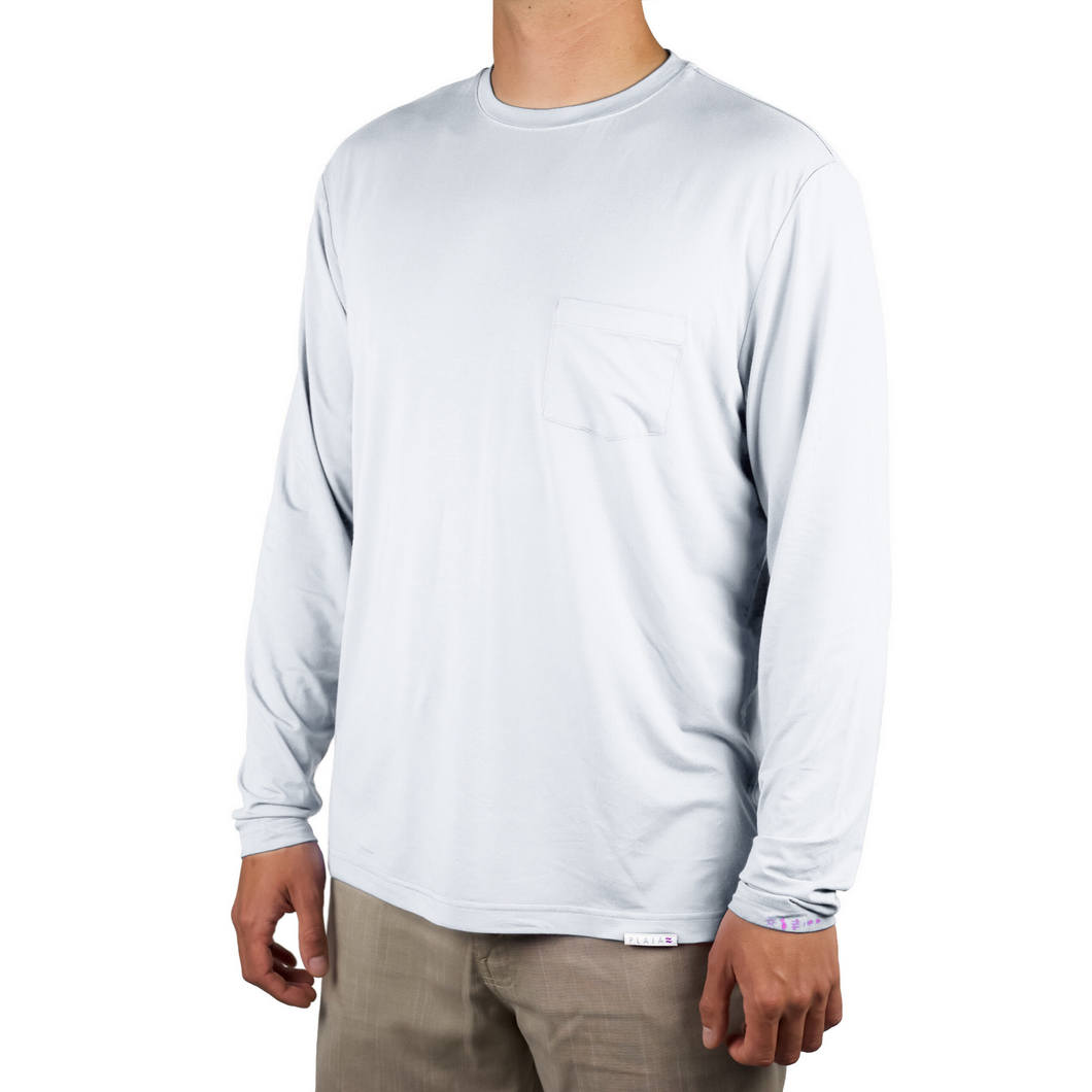Plaia Bamboo men's grey long sleeve