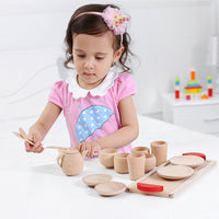 Wooden tea set for kids
