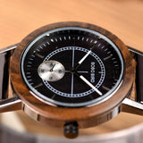 Wooden Watch with Contrast Seconds Dial