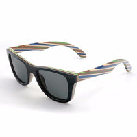 Stripey Bamboo Sunglasses