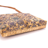Handmade Natural Cork Leather Handbag with Flower Patterns