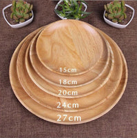 Japanese style wooden plates