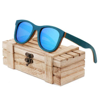 Coloured Skateboard Wood Sunglasses