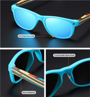 Combination Wooden Sunglasses for Children