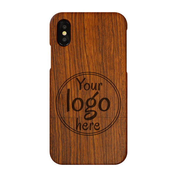 Wooden iPhone Cover with Custom Design or Logo