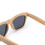 Classic Bamboo Wayfarer Sunglasses with Arm Detail