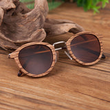 Layered Wood Sunglasses with Metal Arms