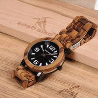 Wooden Watch With Large Lettering