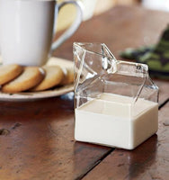 Glass Milk Carton Jug