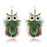 Owl Feather Earrings