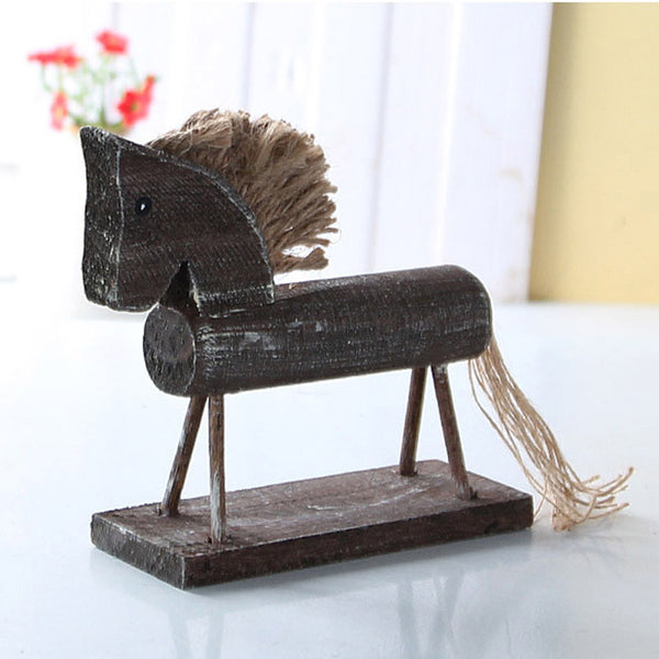 Vintage-Style Handmade Wooden Horse