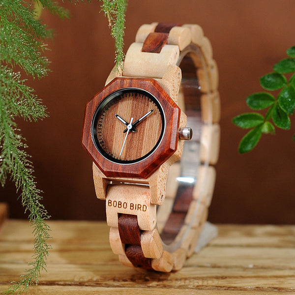 Octagon Wooden Watch for Women