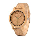 Handmade Bamboo and Cork Watch