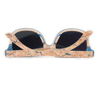 Skateboard Wood Sunglasses back view