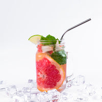 4 Long Reusable Stainless Steel Drinking Straws