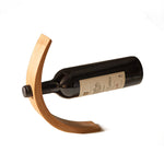 Gravity Bamboo Wine Holder