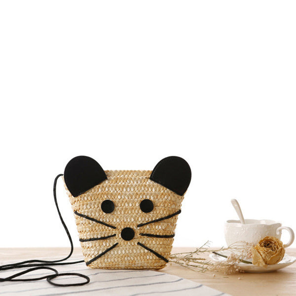 Cute Mouse Straw Bag