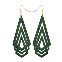Natural Wooden Geometric Earrings