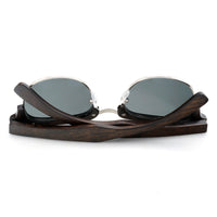 Vintage Wooden Semi-Rimless Sunglasses